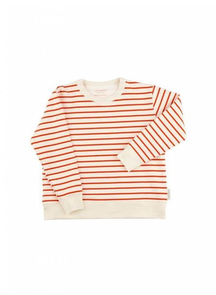 Tiny cottons Small stripes sweater rood
