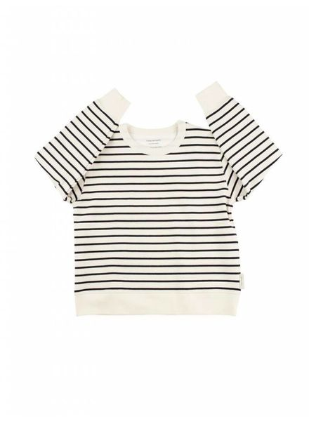 Tiny cottons Small stripes sweater donkerblauw