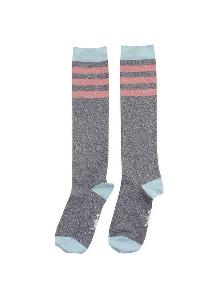 Small Rags Knee socks grey melange 70628