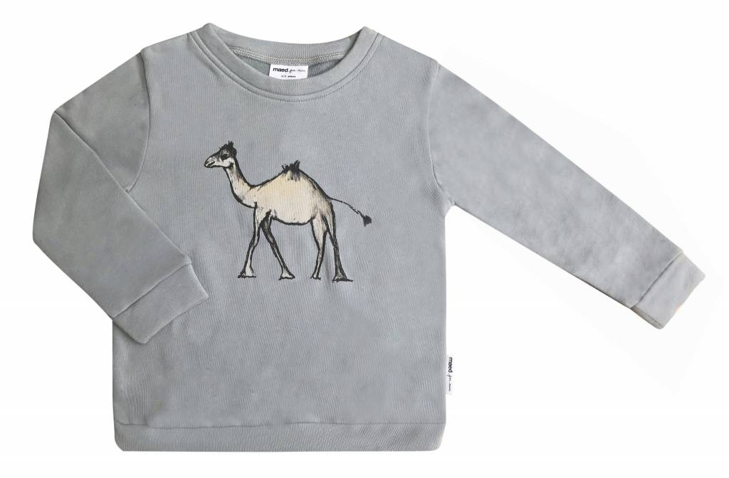 Maed for mini Goofy camel sweater