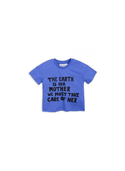 Mini rodini Mother earth ss tee blauw