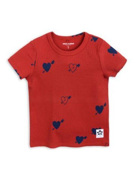 Mini rodini Heart rib tshirt