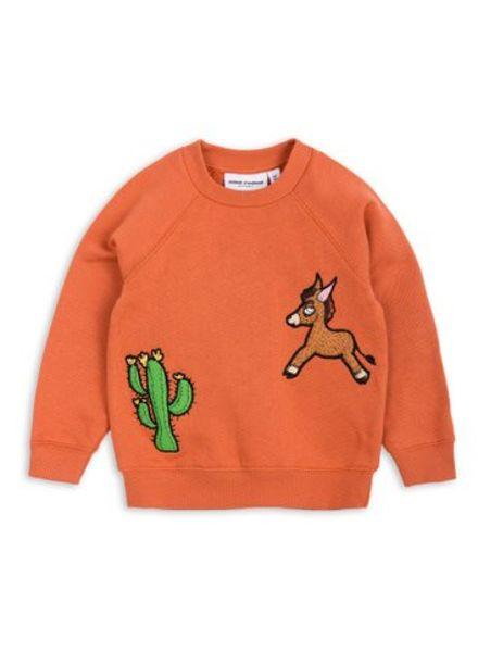 Mini rodini Donkey cactus sweatshirt orange