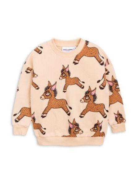 Mini rodini Donkey aop sweatshirt beige
