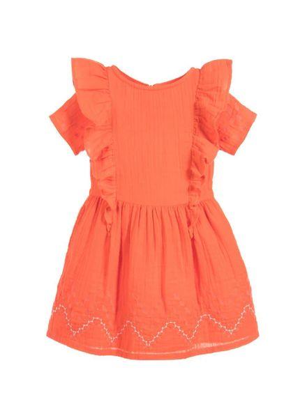 Carrement beau Jurk Y12120 rood oranje