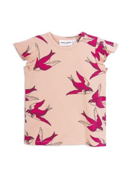 Mini rodini Swallow wings tee pink