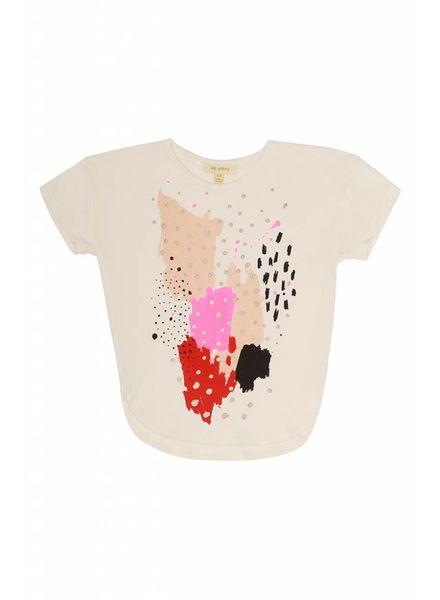 Soft Gallery Amarins Gardenia paint tshirt