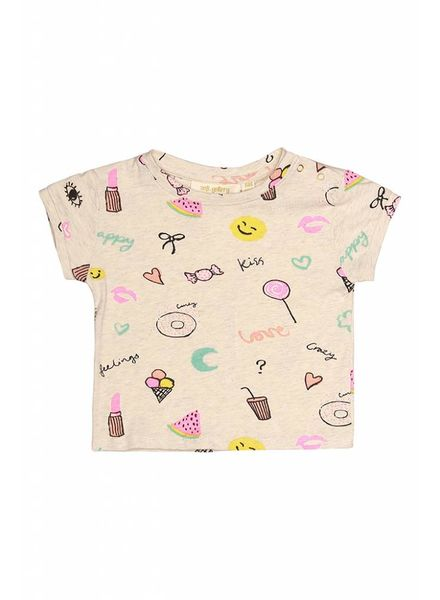 Soft Gallery Bass t-shirt cream melange