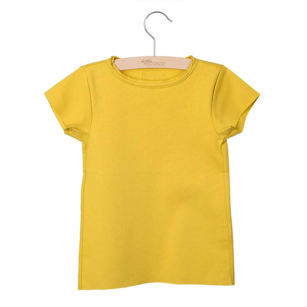 Little Hedonist Isabel T-shirt oiled yellow