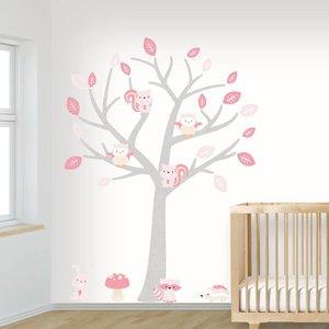 DecoDeco Muursticker Boom Baby Woodland pink