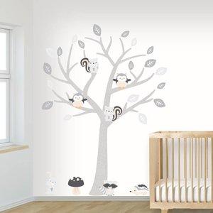 DecoDeco Muursticker Boom Baby Woodland grey