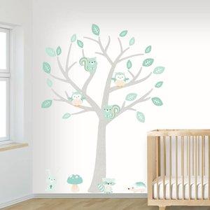 Muursticker Boom Baby Woodland mint