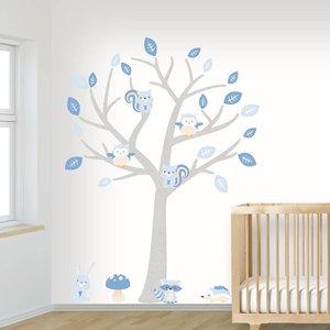 DecoDeco Muursticker Boom Baby Woodland blue