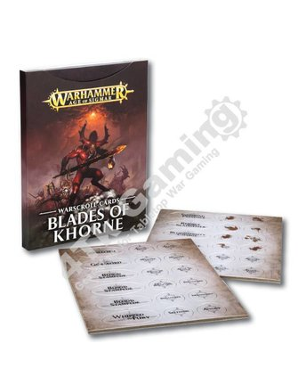 Age Of Sigmar Warscroll Cards: Blades Of Khorne
