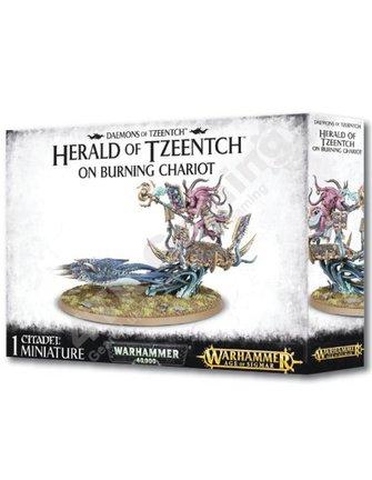 Games Workshop Herald Of Tzeentch On Burning Chariot