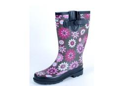 Gevavi Boots Jade dameslaars rubber roze/bruin
