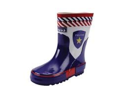Gevavi Boots Politie jongenslaars rubber blauw/wit