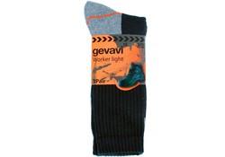 Gevavi Workwear GW80 Worker Light Zwart 3 Paar/Bundel Sokken