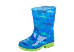 Gevavi Boots Haai kinderlaars pvc blauw
