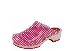 BigHorn 6006 Ruit Rood Clogs Dames