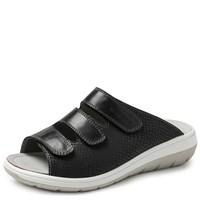 4201 Zwart Gezondheids Slippers Dames