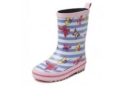 Gevavi Boots Vlinder Roze Laarzen Rubber Meisjes
