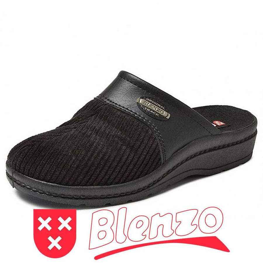 6856 Zwart Pantoffels Heren