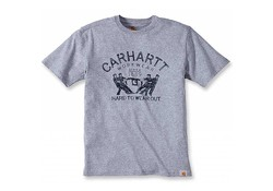 Carhartt Hard To Wear Out Graphic Heather Grey T-Shirt Heren