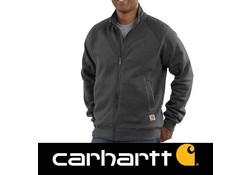 Carhartt Midweight Mock Neck Zip Sweatshirt Carbon Heather Heren