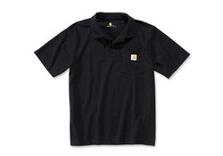 Carhartt Contractor's Work Pocket Black Polo Heren
