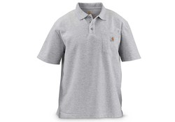 Carhartt Contractor's Work Pocket Heather Grey Polo Heren
