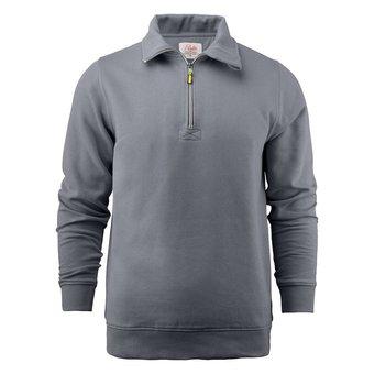 PRINTER Sweatshirt met korte ritssluiting