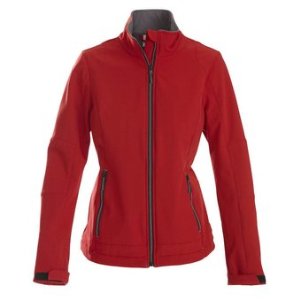 PRINTER Softshell jas dames