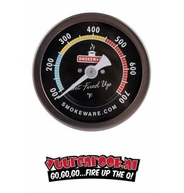 SmokeWare RVS Thermometer Multi Color (Smoke/BBQ/Grill) Wit Fahrenheit   (Keramische BBQ )