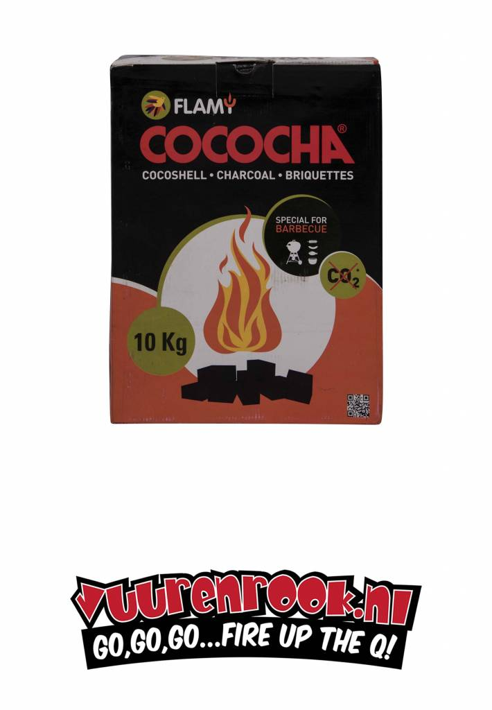 Flamy  kokosbriketten 10 kilo By Cococha  (cubes)