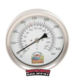 BBQ365 BBQ365 RVS Thermometer 100mm  + GRATIS F-Dick uitbeenmes  13cm flex