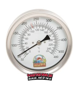 BBQ365 BBQ365 RVS Thermometer 100mm  + GRATIS F-Dick uitbeenmes  13cm flex
