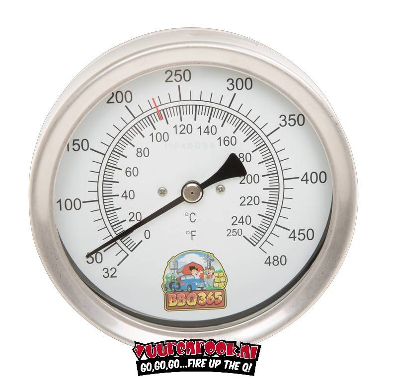 BBQ365 RVS Thermometer 100mm