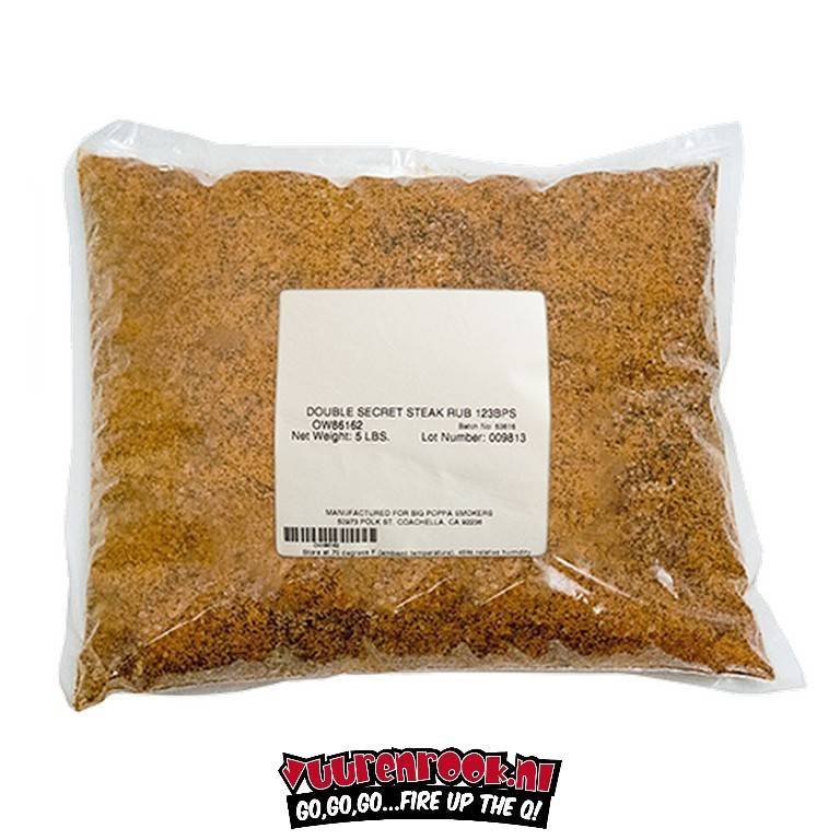 Big Poppa Smokers Double Secret Steak Rub 5LB