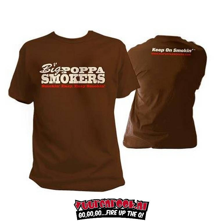 Big Poppa Smokers Brown T-Shirt Large