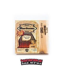 Axtschlag Axtschlag Rook Plank Red Cedar XS 4st. 150x150x11mm