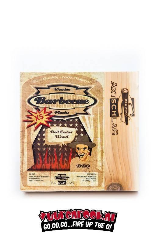 Axtschlag Rook Plank Red Cedar XS 4st. 150x150x11mm