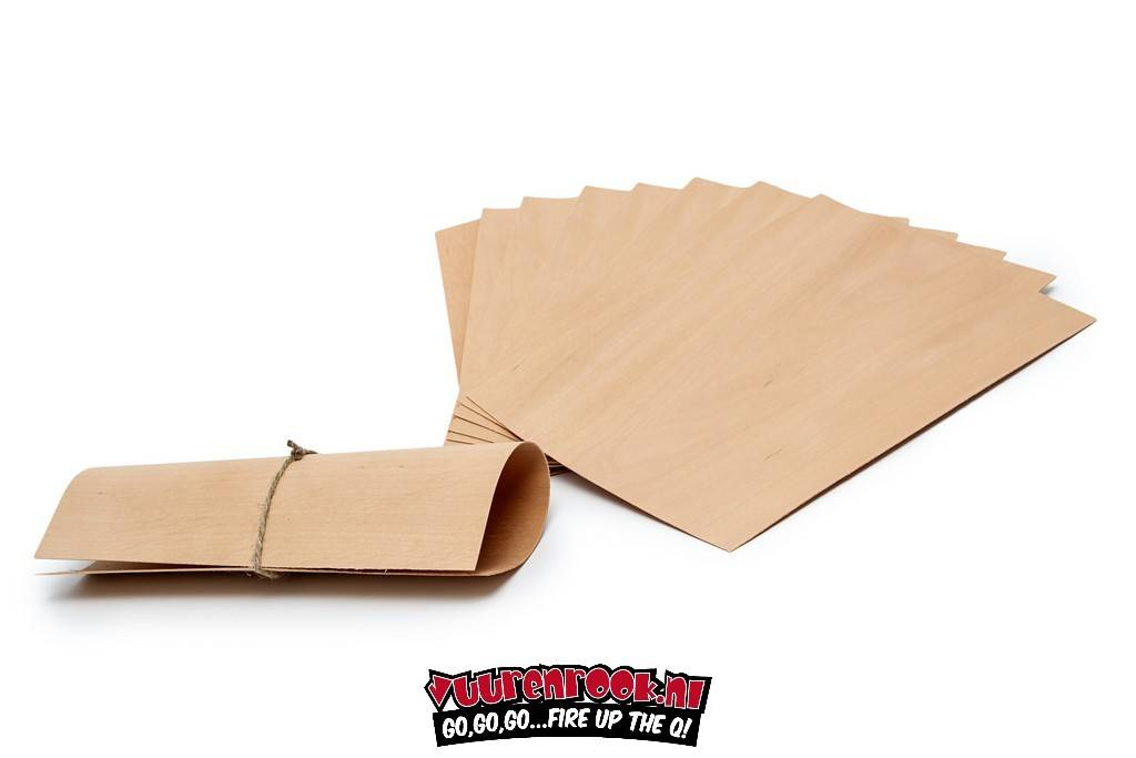 Axtschlag Wood Papers  Alder 8 stuks 19x15cm