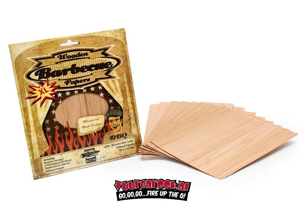 Axtschlag Axtschlag Wood Papers Western Red Cedar XL 8 Stück