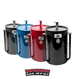 Gate Way Drum Smokers Gate Way Drum Smokers 55 Royal (Blue) With Logo Plate