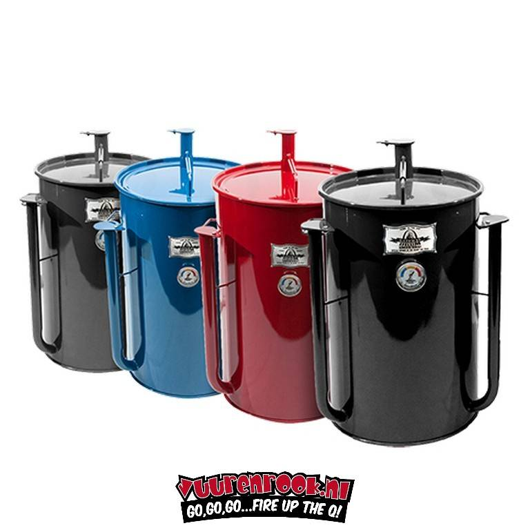 Gate Way Drum Smokers 55 Black With Logo Plate