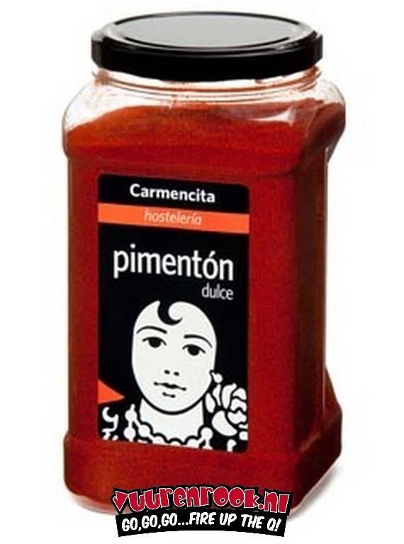 Carmencita Pimenton Dulce (gerookt paprika poeder) 900 gram