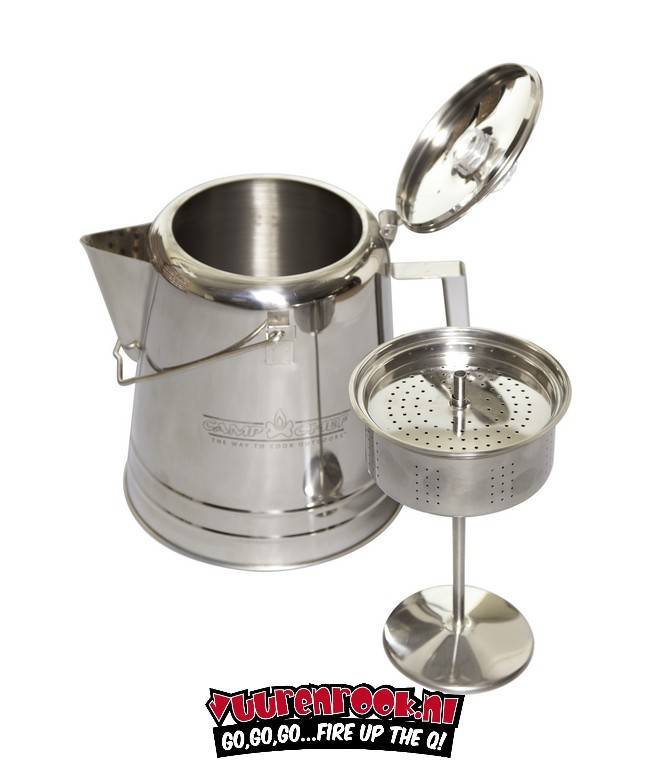 Campchef Stainless Steel Coffee Pot 28 Cup Kops Rvs Percolator