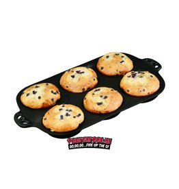 CampChef Cast Iron Muffin Toppers Biscuit Pan