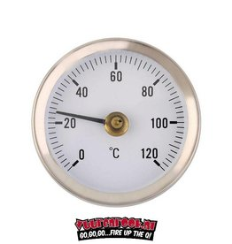 Vuur&Rook Vuur&Rook RVS Thermometer 60mm / 120c / Klasse 1.6